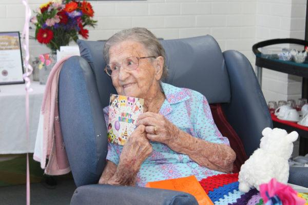 Elsie celebrates her happy 100th