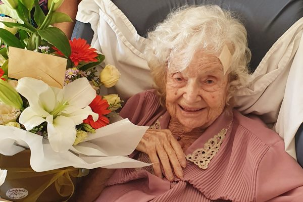 Birthday celebrations at Karinya Place as Ivy turns 105
