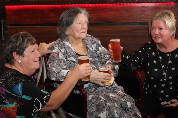 Agnes celebrates 100th birthday with her first beer