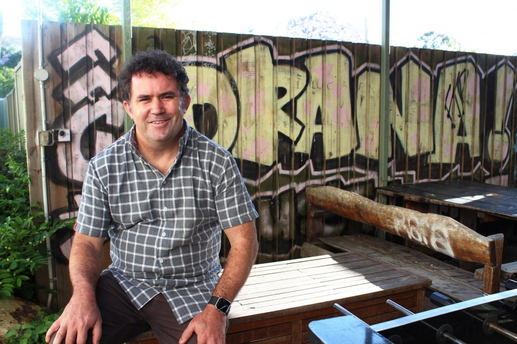 Dave McNair at the Carinity Orana youth accommodation in Bald Hills.