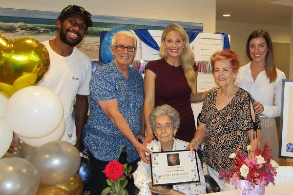 Enid celebrates her 102nd birthday