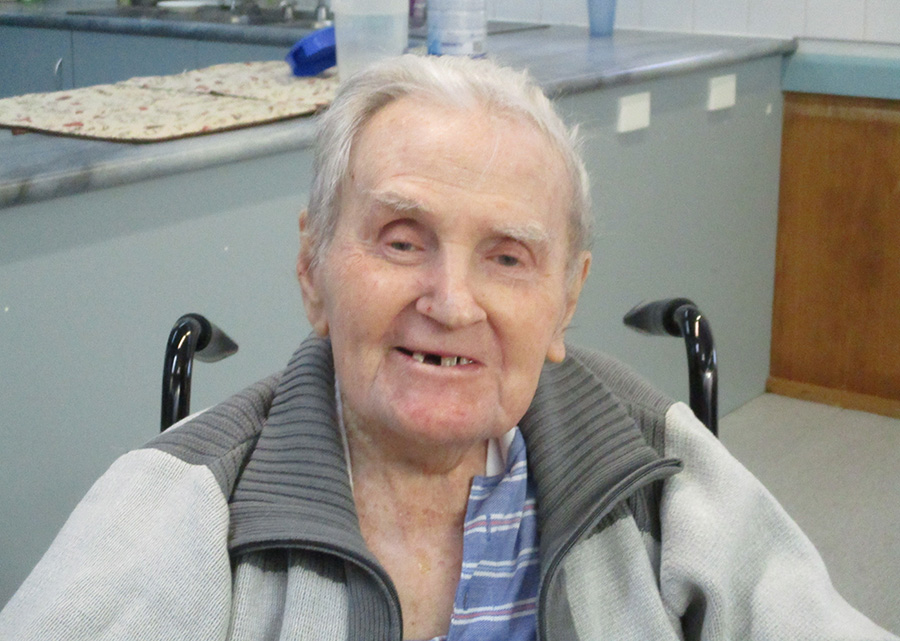 Carinity Summit Cottages resident Claude McKnight turns 100 on August 2.
