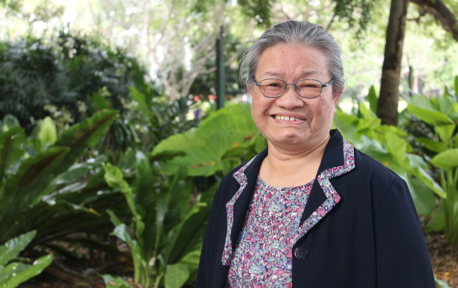 Esther Arulogun has worked at the Carinity Colthup Manor aged care community in Ipswich.