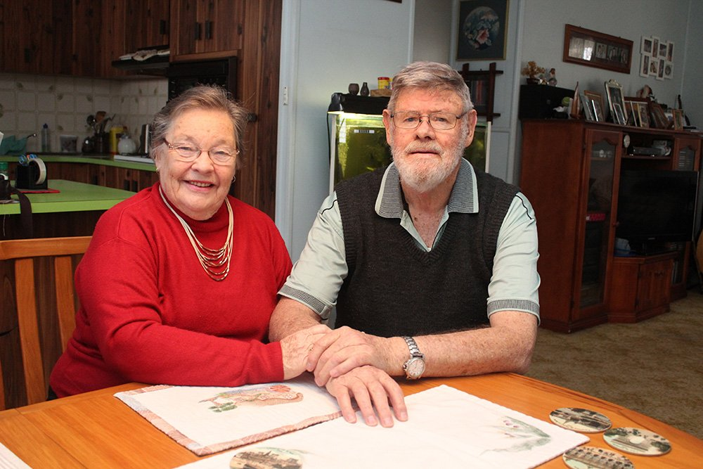 Andrea and Dave Williamson accessed a Government-funded home care package with the support of Carinity.