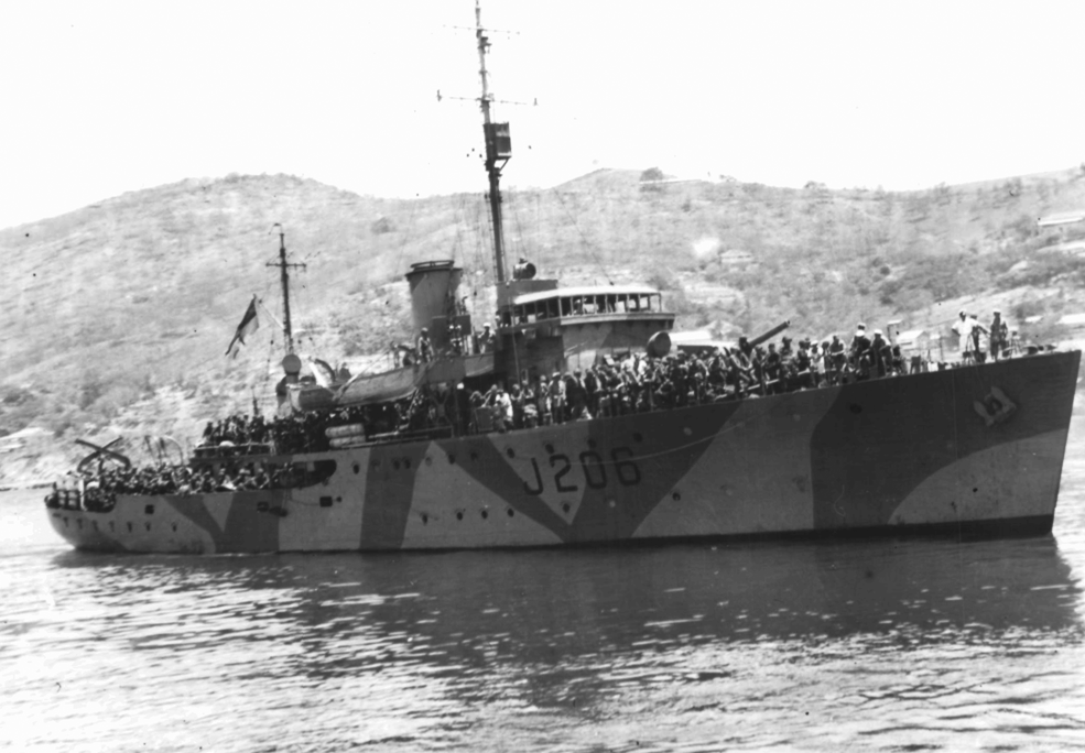 Brian Beames served on the Royal Australian Navy vessel the HMAS Lithgow.