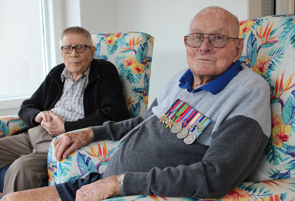 Carinity Brookfield Green residents Don Smith and Brian Beames both served in World War II.
