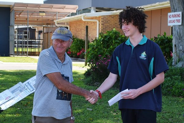 "Hervey Bay school supporting the ""Mower Man"""