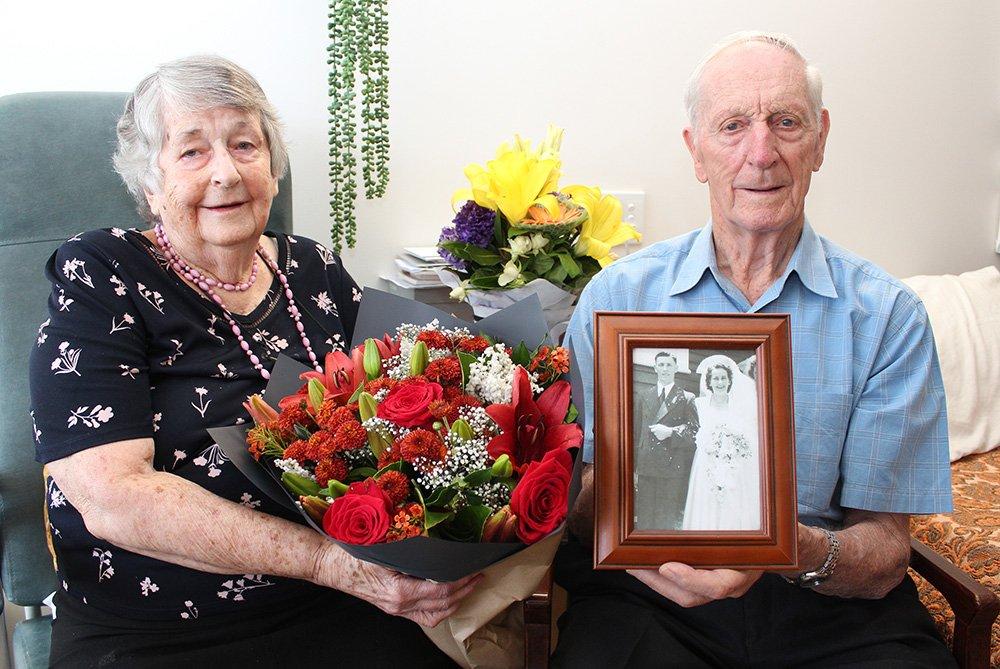 Doris and Alwyn Pfeffer on their 70th wedding anniversary on November 11.
