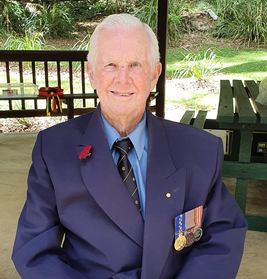 Kenneth wore his father's military medals for the Remembrance Day commemorations.