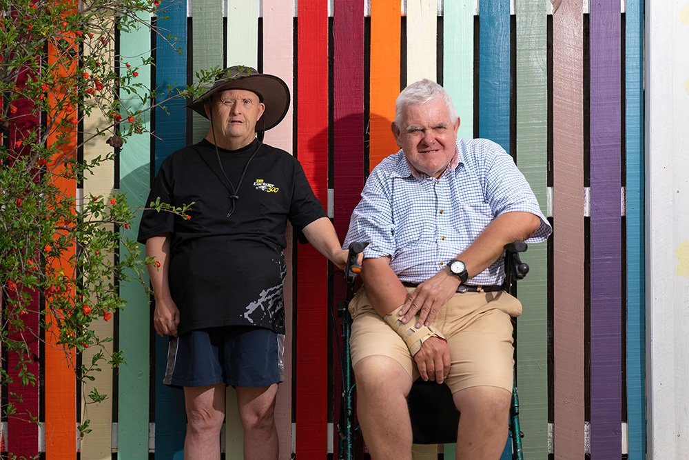 Carinity Our House clients Peter Hemsley and Hugo Teske.