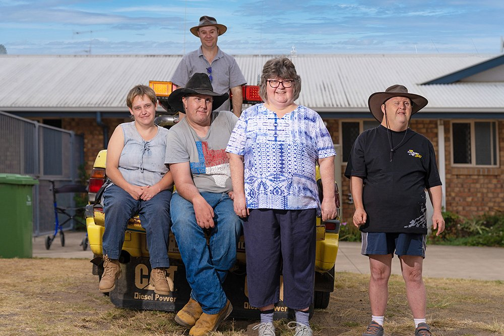 Carinity Our House clients Amber Bennett, Shane Smith, Corrie Young, Lisa Dean and Peter Hemsley.