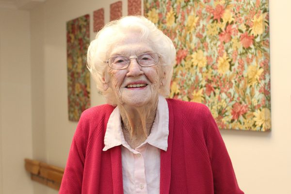 """Just live life"" is advice from new centenarian"