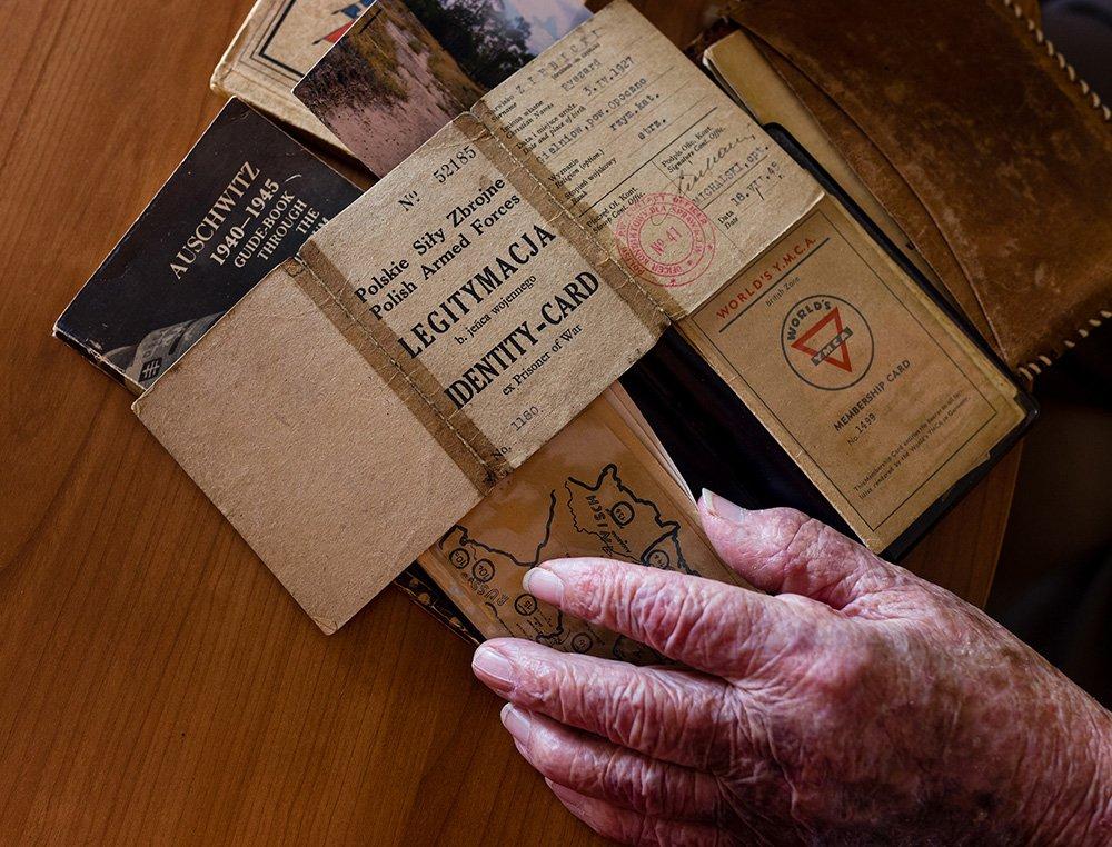 Ryszard 'Richie' Ziebicki's identification documents from the World War II era