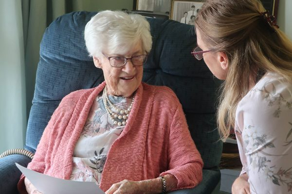 New centenarian creates her own history