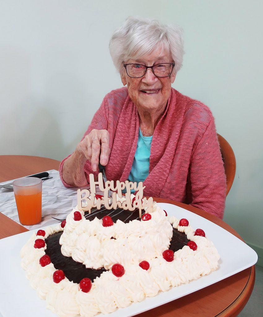 Joan Davis celebrated her 100th birthday at the Carinity Shalom aged care community on January 18.