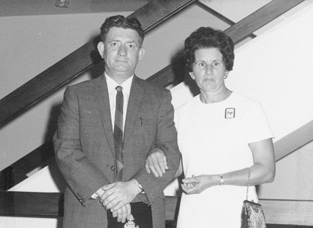 Winifred with her late husband Edward Tazey.