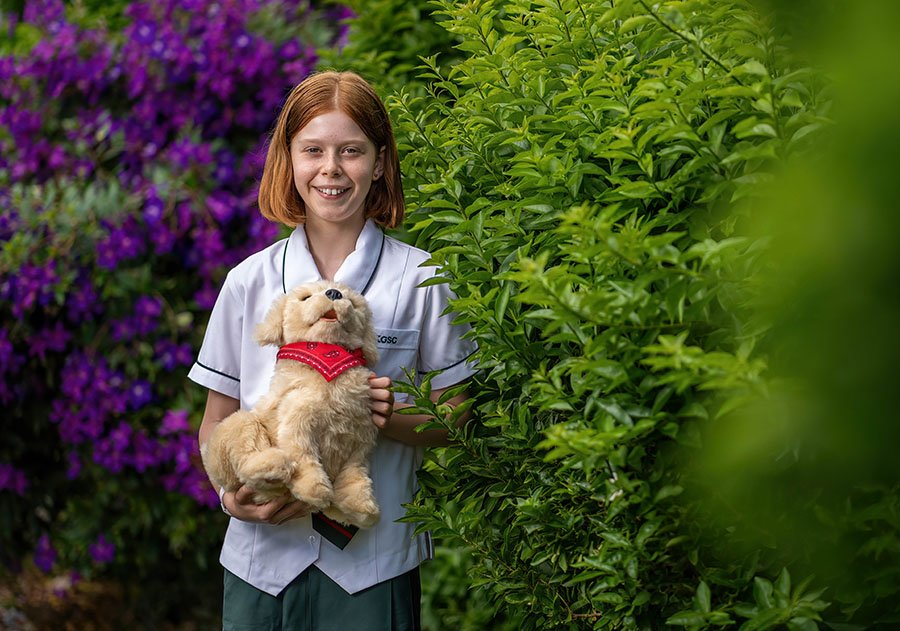 Abbie Duncan with a companion pet which Kelvin Grove State College students will name with a contest at the school.