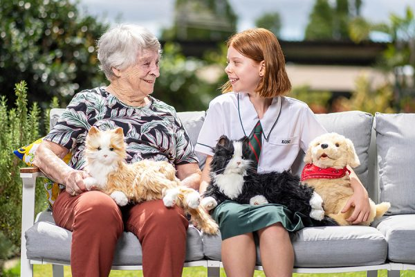 School's cuddly donation delights Brisbane seniors