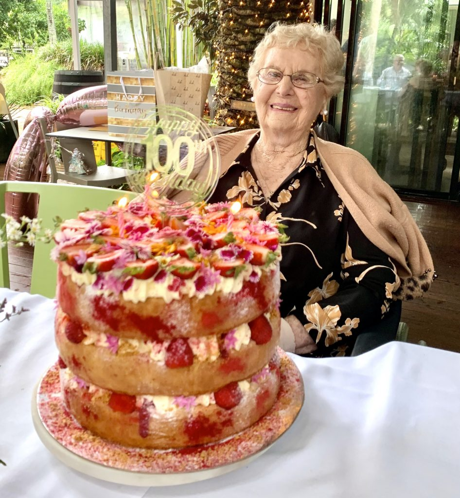 """Carinity Brookfield Green resident Enid """"Joan"""" Davey turned 100 years young on March 24."""