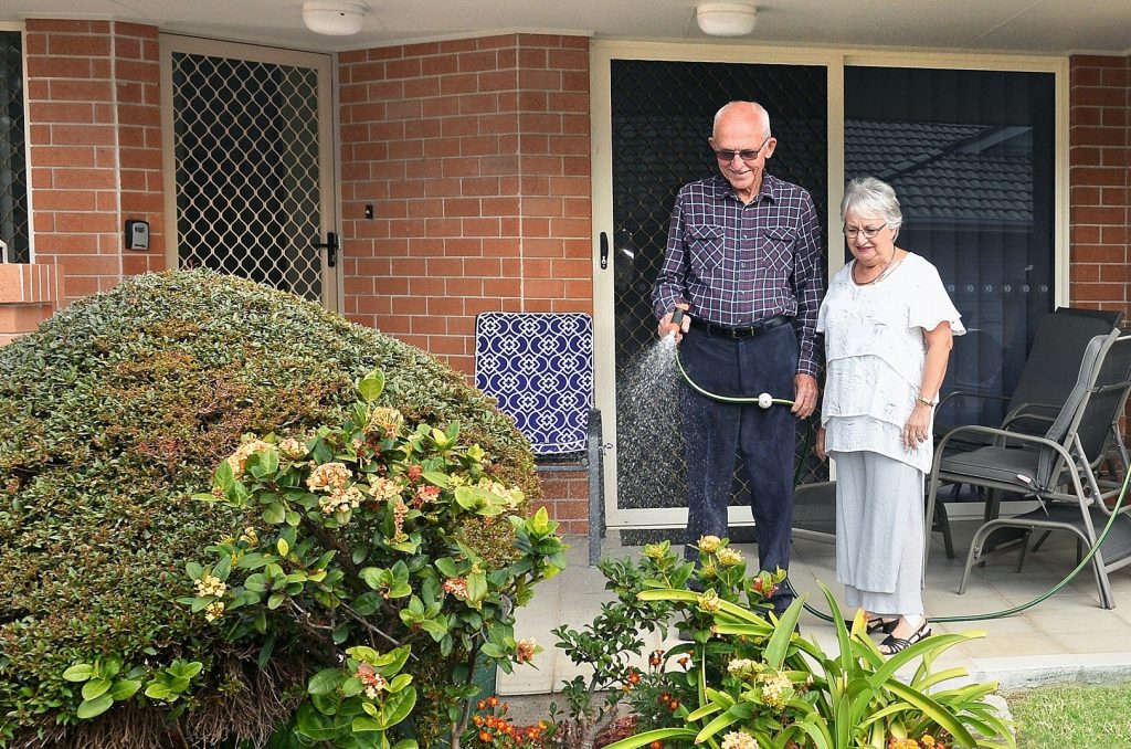 Barry and Margaret-Anne Hyde live at the Carinity Wishart Gardens retirement village, which is co-located with a residential aged care community.