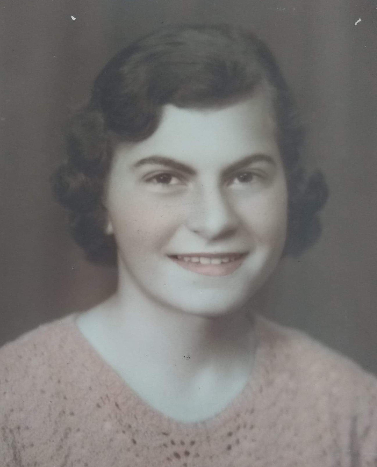 Bessie Conomos pictured as a 16-year-old in the late 1930s.
