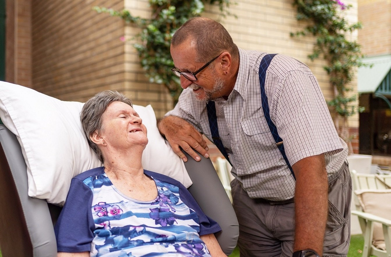 As Julie Collier's care needs advanced, she moved into the Carinity Clifford House residential aged care community in Brisbane.