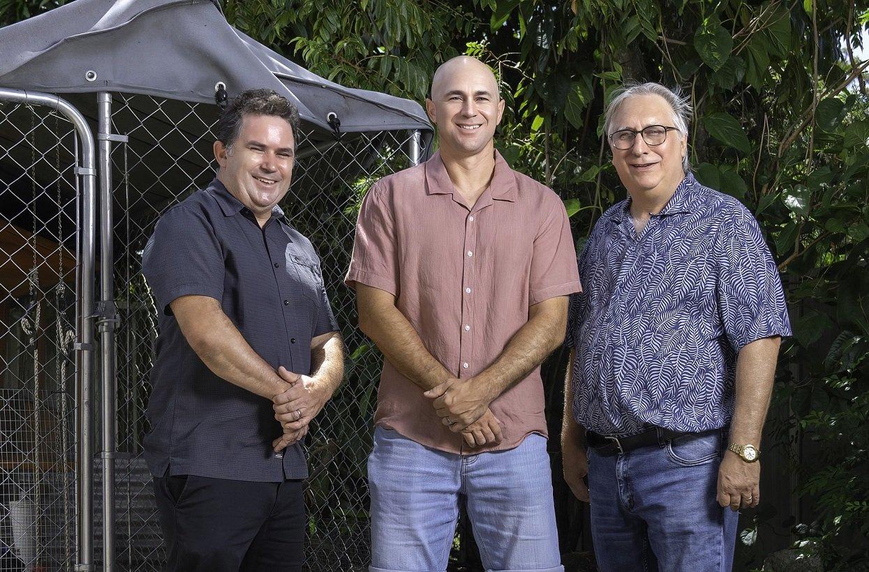 Current Carinity Orana staff Dave McNair, Nathan Wilkins and Gary Roberts