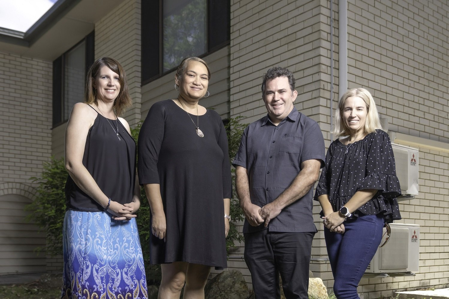 Dave McNair with former Carinity Orana managers Nikki Brown, Helen Ford and Kim Bertwistle