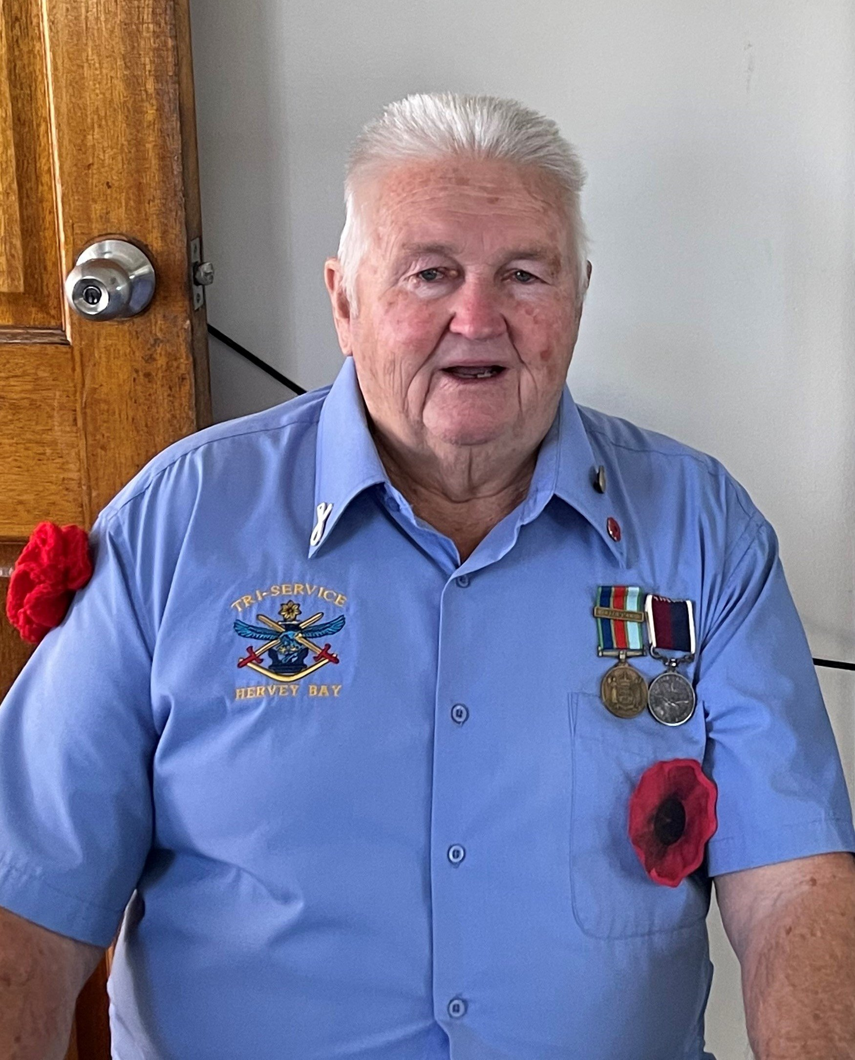Carinity Home Care client Robert Symons served in the New Zealand Air Force during the Vietnam War.