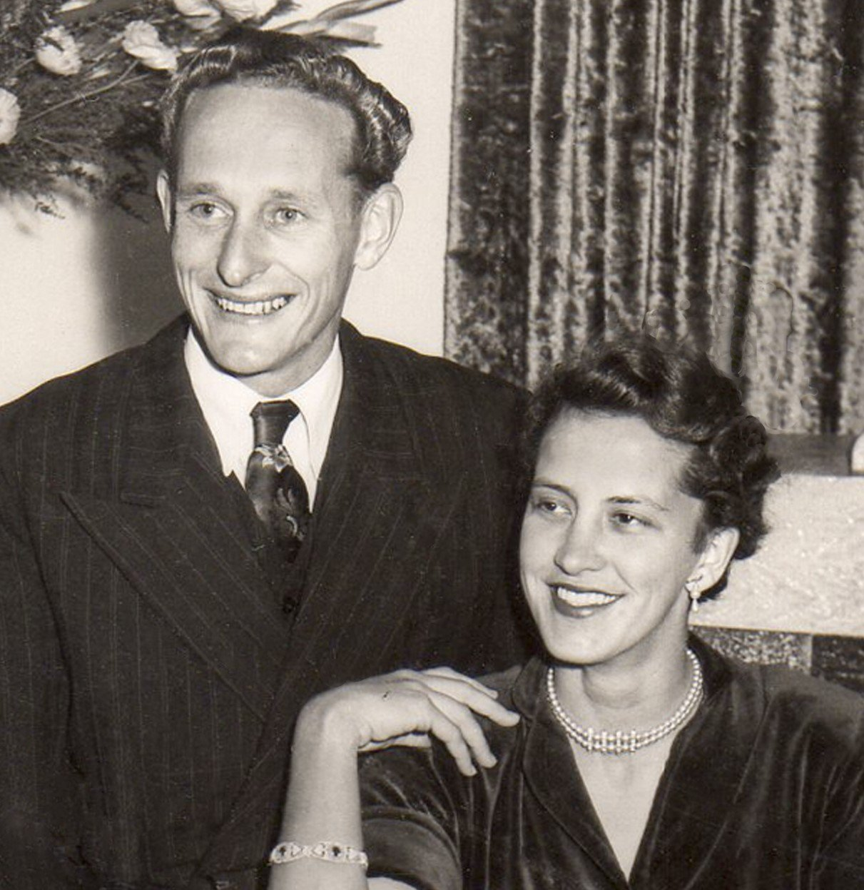 A young Gordon with his wife Shirley.