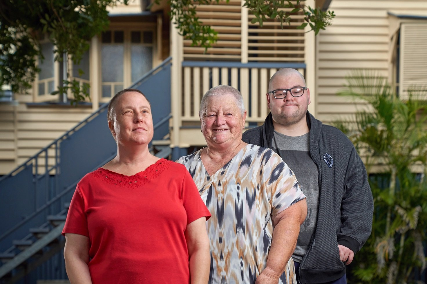 Carinity Bunderra clients Michelle, Betty and Hayden Wilson at the disability support centre at Boonah.