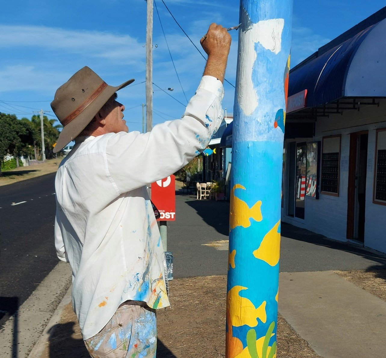 Painting street poles with colourful murals was one of the art initiatives which has helped to reinvigorate Keppel Sands.